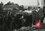 Image of Red Cross staff distribute hot chocolate to soldiers Chatel Chehery France, 1918, second 12 stock footage video 65675023650