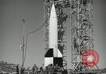 Image of V-2 Rocket launch White Sands New Mexico USA, 1947, second 8 stock footage video 65675023663