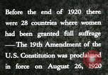 Image of suffrage granted to women United States USA, 1920, second 2 stock footage video 65675023751