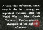 Image of Carrie Chapman Catt United States USA, 1920, second 1 stock footage video 65675023752