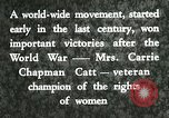 Image of Carrie Chapman Catt United States USA, 1920, second 3 stock footage video 65675023752