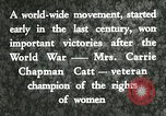 Image of Carrie Chapman Catt United States USA, 1920, second 4 stock footage video 65675023752