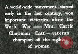 Image of Carrie Chapman Catt United States USA, 1920, second 5 stock footage video 65675023752