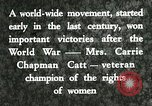 Image of Carrie Chapman Catt United States USA, 1920, second 7 stock footage video 65675023752