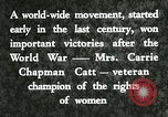 Image of Carrie Chapman Catt United States USA, 1920, second 8 stock footage video 65675023752