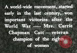 Image of Carrie Chapman Catt United States USA, 1920, second 9 stock footage video 65675023752