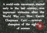 Image of Carrie Chapman Catt United States USA, 1920, second 10 stock footage video 65675023752