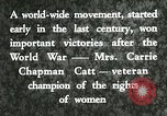 Image of Carrie Chapman Catt United States USA, 1920, second 11 stock footage video 65675023752