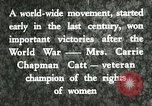 Image of Carrie Chapman Catt United States USA, 1920, second 12 stock footage video 65675023752