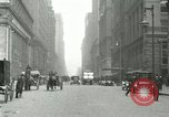 Image of movement in street Chicago Illinois USA, 1916, second 2 stock footage video 65675023760