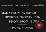 Image of Annual 10mile marathon Paris France, 1931, second 7 stock footage video 65675023803