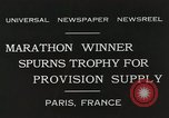 Image of Annual 10mile marathon Paris France, 1931, second 10 stock footage video 65675023803