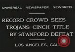 Image of Football match Los Angeles California USA, 1931, second 3 stock footage video 65675023809