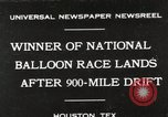 Image of National Balloon Race Houston Texas USA, 1930, second 1 stock footage video 65675023810