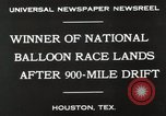 Image of National Balloon Race Houston Texas USA, 1930, second 2 stock footage video 65675023810