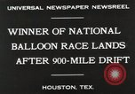 Image of National Balloon Race Houston Texas USA, 1930, second 3 stock footage video 65675023810