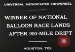 Image of National Balloon Race Houston Texas USA, 1930, second 4 stock footage video 65675023810