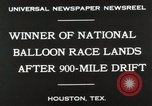 Image of National Balloon Race Houston Texas USA, 1930, second 5 stock footage video 65675023810