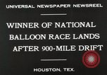 Image of National Balloon Race Houston Texas USA, 1930, second 6 stock footage video 65675023810