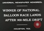 Image of National Balloon Race Houston Texas USA, 1930, second 7 stock footage video 65675023810
