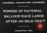 Image of National Balloon Race Houston Texas USA, 1930, second 9 stock footage video 65675023810