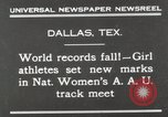 Image of National Women's track meet Dallas Texas, 1930, second 2 stock footage video 65675023814