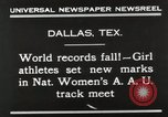 Image of National Women's track meet Dallas Texas, 1930, second 8 stock footage video 65675023814