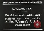 Image of National Women's track meet Dallas Texas USA, 1930, second 9 stock footage video 65675023814