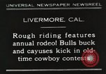 Image of Annual rodeo Livermore California USA, 1930, second 1 stock footage video 65675023815