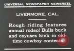 Image of Annual rodeo Livermore California USA, 1930, second 3 stock footage video 65675023815