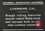 Image of Annual rodeo Livermore California USA, 1930, second 4 stock footage video 65675023815