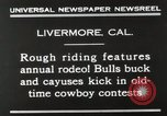 Image of Annual rodeo Livermore California USA, 1930, second 5 stock footage video 65675023815