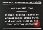Image of Annual rodeo Livermore California USA, 1930, second 7 stock footage video 65675023815