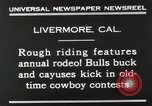 Image of Annual rodeo Livermore California USA, 1930, second 9 stock footage video 65675023815