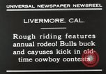 Image of Annual rodeo Livermore California USA, 1930, second 10 stock footage video 65675023815