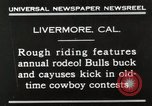 Image of Annual rodeo Livermore California USA, 1930, second 11 stock footage video 65675023815