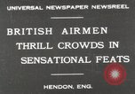 Image of British air show Hendon England, 1930, second 1 stock footage video 65675023816