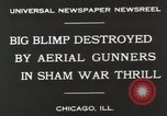 Image of Blimp shot down over Chicago Chicago Illinois USA, 1930, second 2 stock footage video 65675023819