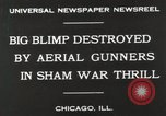 Image of Blimp shot down over Chicago Chicago Illinois USA, 1930, second 3 stock footage video 65675023819
