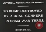 Image of Blimp shot down over Chicago Chicago Illinois USA, 1930, second 4 stock footage video 65675023819