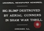 Image of Blimp shot down over Chicago Chicago Illinois USA, 1930, second 5 stock footage video 65675023819