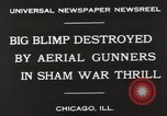 Image of Blimp shot down over Chicago Chicago Illinois USA, 1930, second 8 stock footage video 65675023819