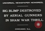 Image of Blimp shot down over Chicago Chicago Illinois USA, 1930, second 9 stock footage video 65675023819