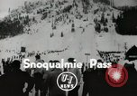 Image of Ski jumpers Snoqualmie Pass Washington USA, 1949, second 1 stock footage video 65675023841