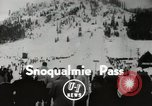 Image of Ski jumpers Snoqualmie Pass Washington USA, 1949, second 2 stock footage video 65675023841
