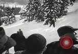 Image of Ski jumpers Snoqualmie Pass Washington USA, 1949, second 7 stock footage video 65675023841