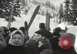 Image of Ski jumpers Snoqualmie Pass Washington USA, 1949, second 8 stock footage video 65675023841