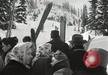 Image of Ski jumpers Snoqualmie Pass Washington USA, 1949, second 9 stock footage video 65675023841