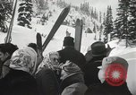 Image of Ski jumpers Snoqualmie Pass Washington USA, 1949, second 11 stock footage video 65675023841