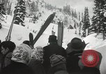 Image of Ski jumpers Snoqualmie Pass Washington USA, 1949, second 12 stock footage video 65675023841